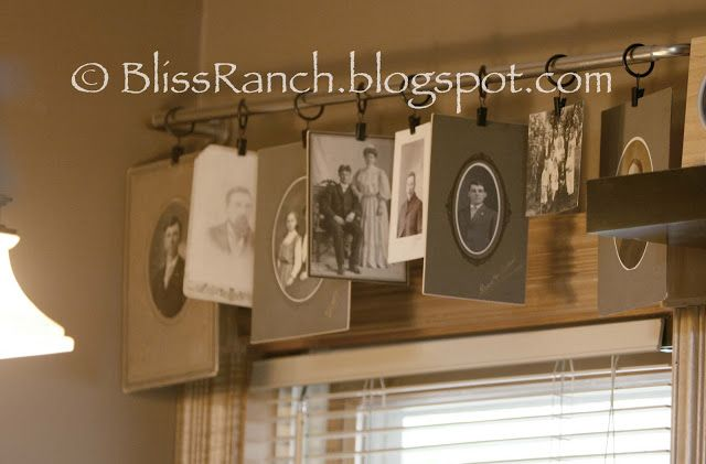 Bliss Ranch:  Old Photos Used as Window Valance