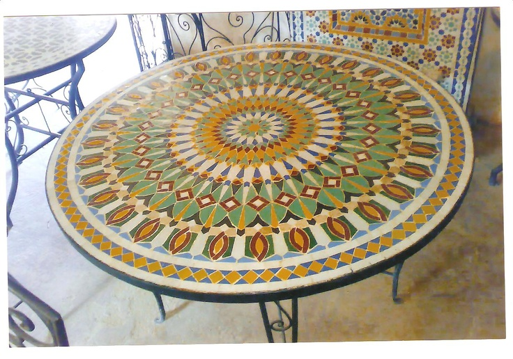 Mesa de mosaico marroqui leyendartemudejar pinterest for Mosaico marroqui