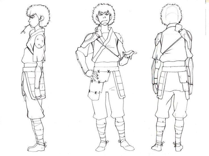 Lineart of Jet from Avatar: The Last Airbender    (This is on Ki Hyun Ryuu's DA account.)