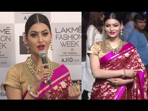 Urvashi Rautela's FIRST appearance in saree at Lakme Fashion Week 2017 | Day 2