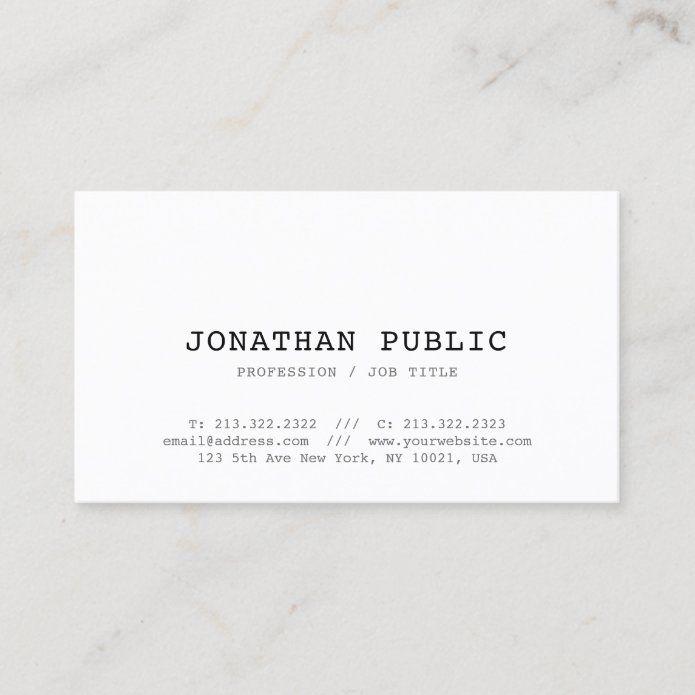 Vintage Classic Look Design Stylish Plain Trendy Business Card Zazzle Com In 2021 Trendy Business Cards Classic Looks Small Business Cards