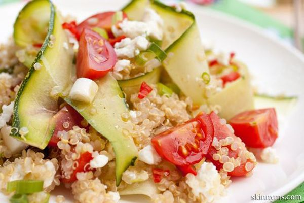 This delish Quinoa Salad is a favorite at Skinny Ms.. Here's another Quinoa salad recipe video worth checking out.