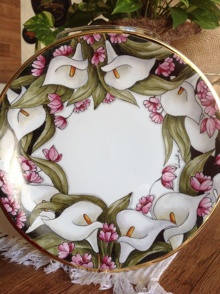 Pretty Calla Lilies Plate