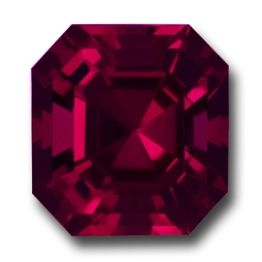 Asscher Cut Rhodolite. They simply don't come better. A stunning Rhodolite cut beautifully in the acclaimed Asscher cut style. Plenty of life & character. Infused with stunning raspberry red color. Top clarity. Beautiful. 11.78 crts