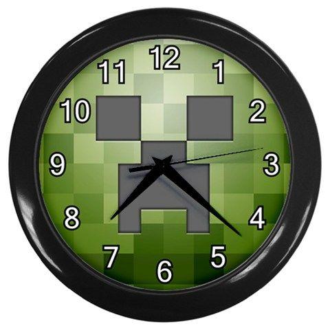 Minecraft Creeper 3d Pixel Block Games Wall Clock Home