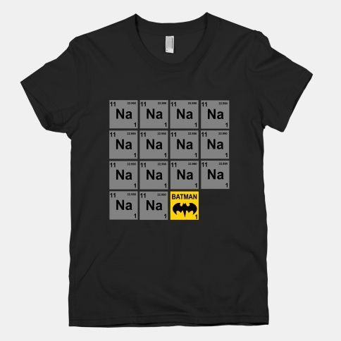 ❥  Periodic Table of Batman; hahaha Dwight would love this!