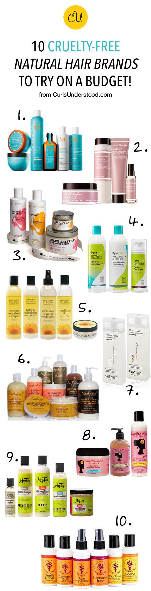 There's nothing like ethically conscious products! Learn how you can try all 10 brands for less: http://curlsunderstood.com/10-curly-hair-products-cruelty-free