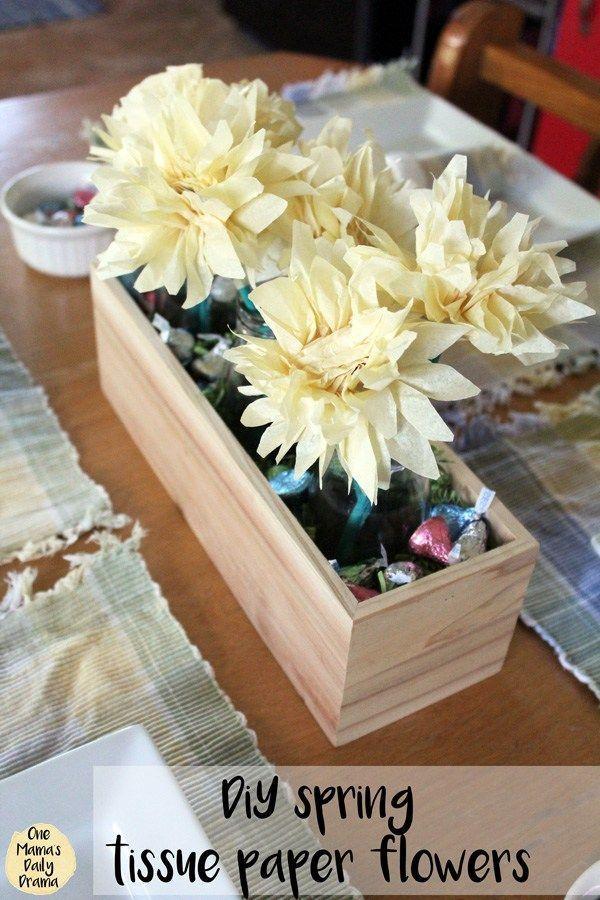 Diy Spring Tissue Paper Flowers Tissue Paper Flowers Paper