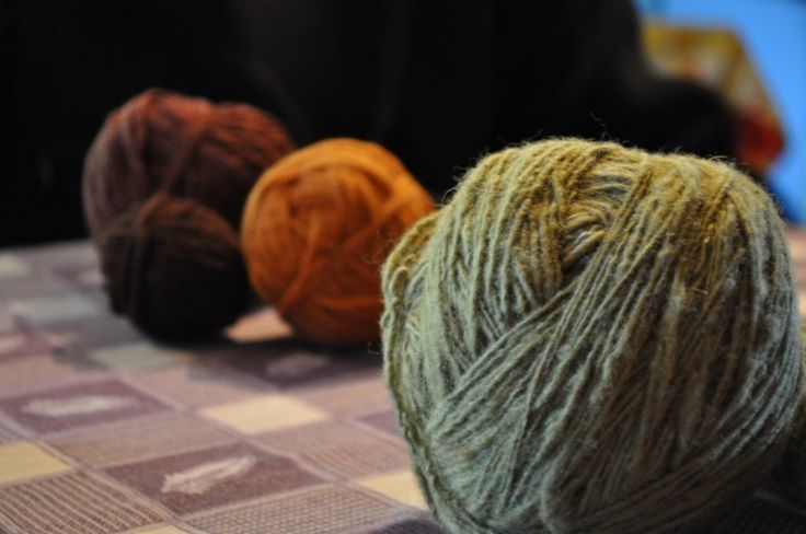 Naturally dyed yarn by Mapuche women in the Araucania, Chile  #mapuche #chile #yarn