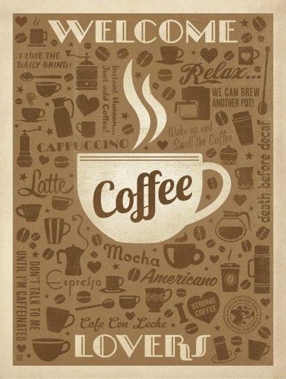Coffee Lovers - Anderson Design Group | Crie seu quadro com essa imagem https://www.onthewall.com.br/poster/coffee-lovers #quadro #canvas #moldura #café #decoração