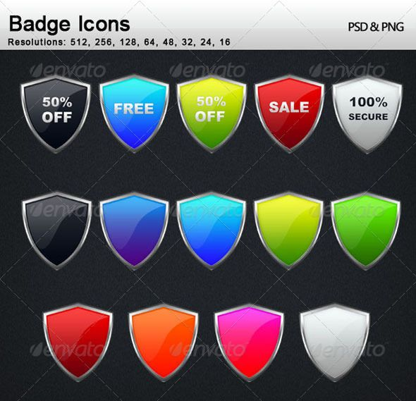 Badge Icons  #GraphicRiver         More Icons                                                               Badge Icons Font Used: Segoe UI   92 professional badge icons. They can be used any where on website or on applications.   This package include 92 non editable PNG & 1 PSD Bage Icon file which contains all the icons and also editable text so that you can add your own custom text easily & help file.     Created: 25June11 GraphicsFilesIncluded: PhotoshopPSD #TransparentPNG Layered: No…
