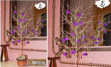 Arbolito de navidad con rama seca, enviado por Cristina Pareja