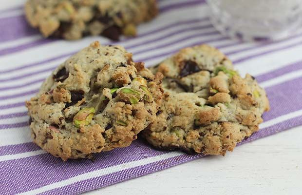 Salted Pistachio and Chocolate Chunk Cookies from our cookie jar collection