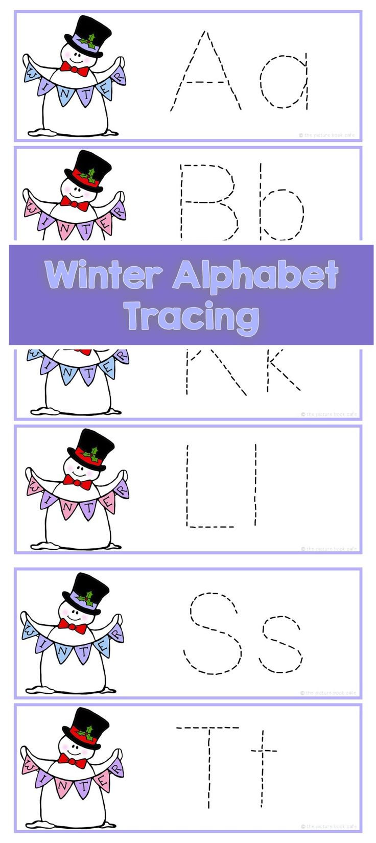 Winter Alphabet Letter Tracing