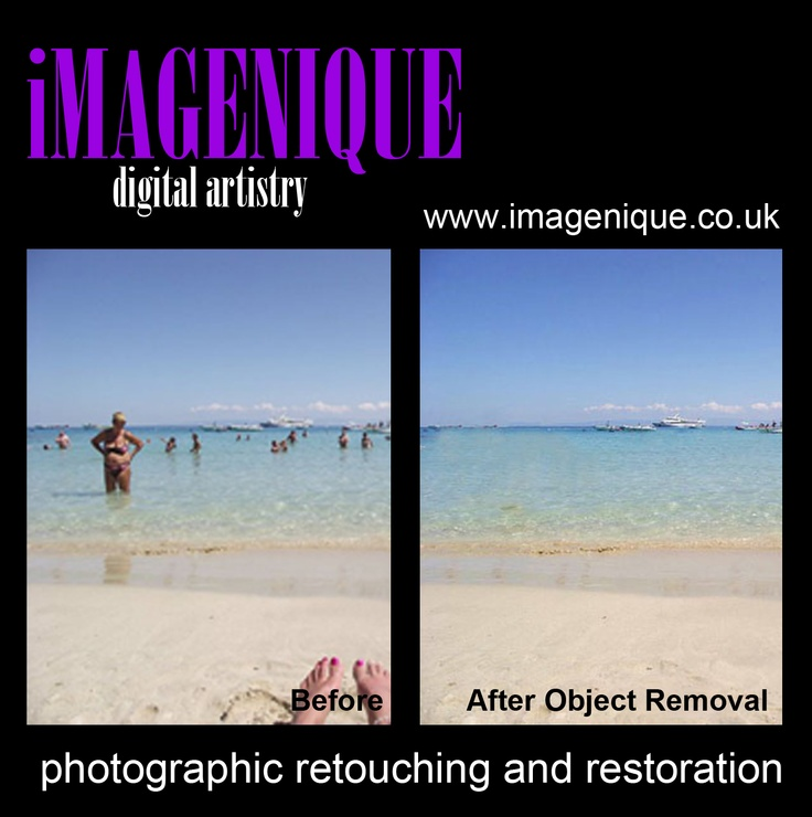 Photographic Retouching. OBJECT REMOVAL. Remove unwanted objects from your photographs. From £5.00 to £12.00
