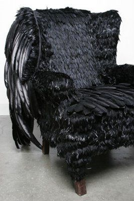 GEORGE: The sexiest, most powerful chair EVER!: Power Chairs, April 2009, Chandeliers Feathers, Enchanted Chandeliers, Ravens Chairs, Book, Feathers Chairs Hummmm, Wow Black Chairs, Black Feathers