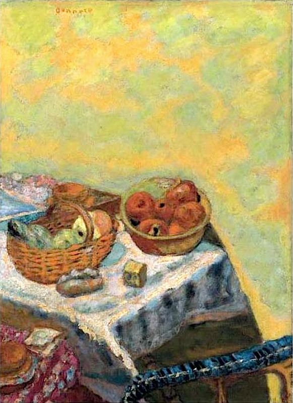 "Pierre Bonnard, ""Basket of Fruit in the Sun"" Art Experience NYC www.artexperiencenyc.com"