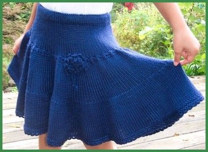 Cute Short Skirt With Lacy Edge - Super Easy Knitting Pattern For Beginners