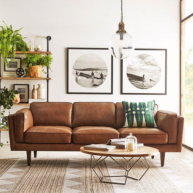 Brooklyn 3 Seat Leather Sofa In 2019 Lounge Room