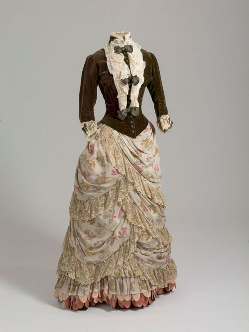 Dress of Empress Maria Feodorovna, 1886-87 From the State... (layering)