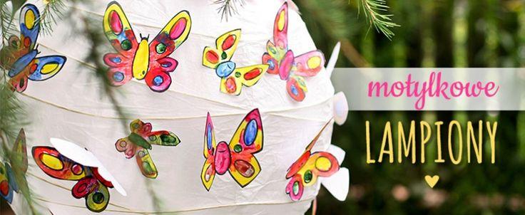 Motylkowe lampiony DIY
