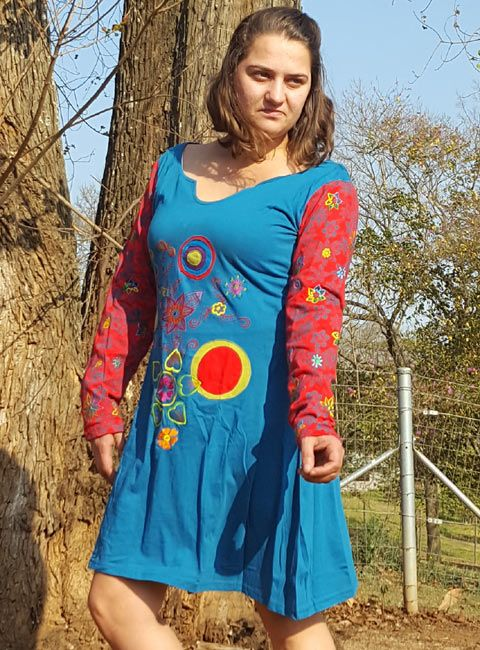 Summer or winter, this dress is just fun #hippieclothes #retail #clothing #dresses