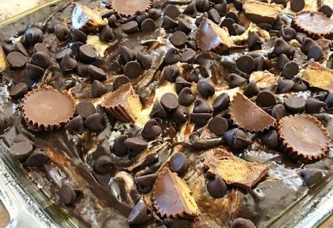 Chocolate Peanut Butter Earthquake Cake!