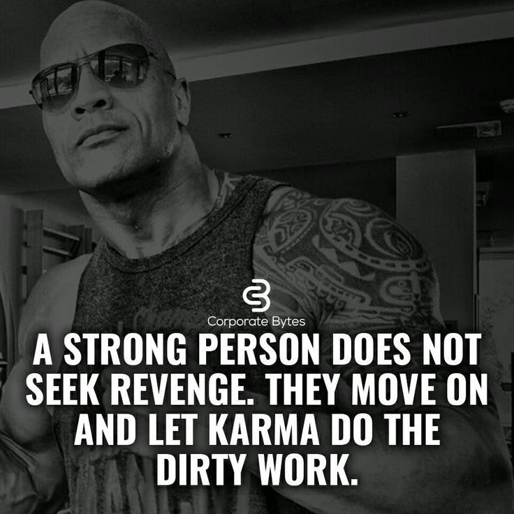 So....if we are all letting karma get our perceived revenge, that means everyone will be brought low at sometime.  World full of karma victims.  :)
