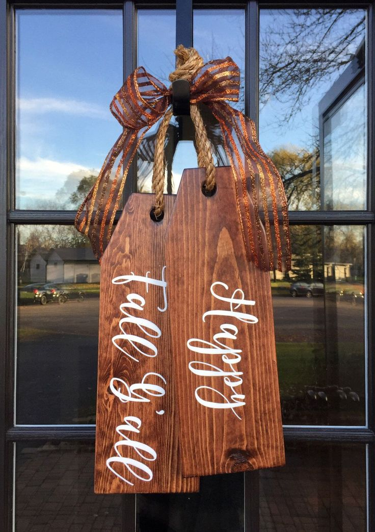 Large Wood Tags - Door Hanger - Happy Fall Y'all - Hand Painted - Door Tags by Kreatme on Etsy https://www.etsy.com/listing/489155517/large-wood-tags-door-hanger-happy-fall
