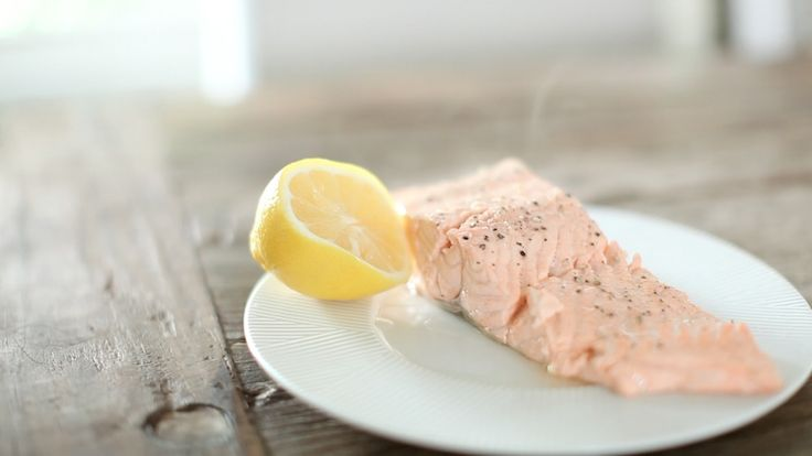 A basic cooking skill on how to poach salmon.