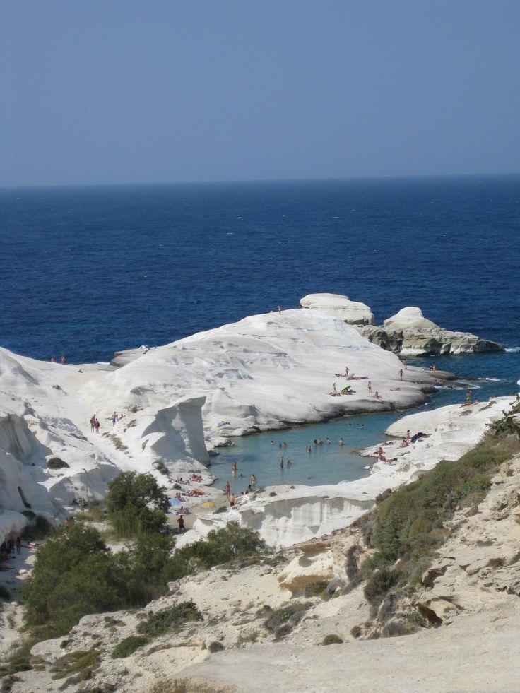 Mylos island  at Greece - magic beach