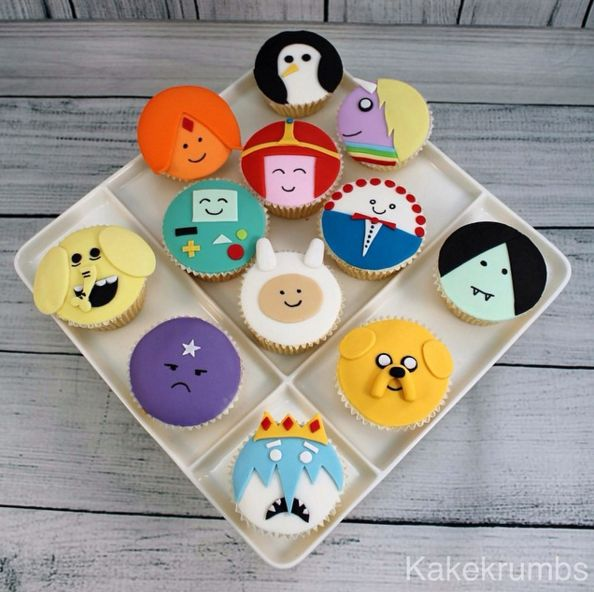And the whole gang as cupcakes. | 17 Amazing Adventure Time Cakes