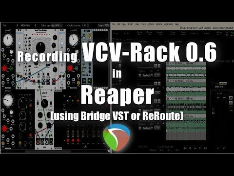 How to route audio from VCV Rack to REAPER through VCV