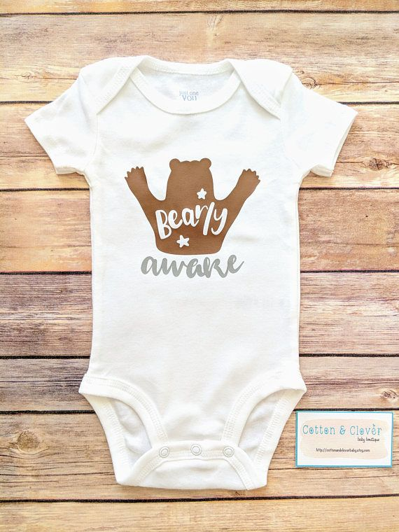 3fe06365f Bearly Awake bodysuit    FREE STANDARD SHIPPING IN THE U.S. ...