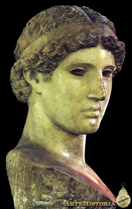 Atenea Lemnia Autor: Fidias Fecha: 450 a.C. Museo: Museo Civico de Cremona Características: 28 cm alturaGrecia Material: Mármol
