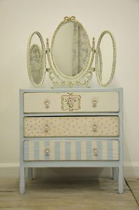 Vintage-French-Shabby-Chic-Handpainted-Chest-of-Drawers