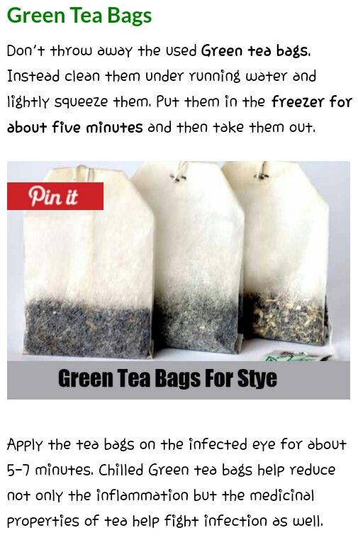 Green tea bags for stye