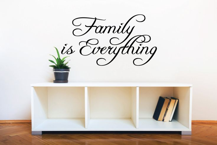 Family Wall Sticker Quote - Family is Everything l Family Wall Decal Quote Saying | Family Wall Decor | Wall Quotes and Sayings by FixateDesigns on Etsy