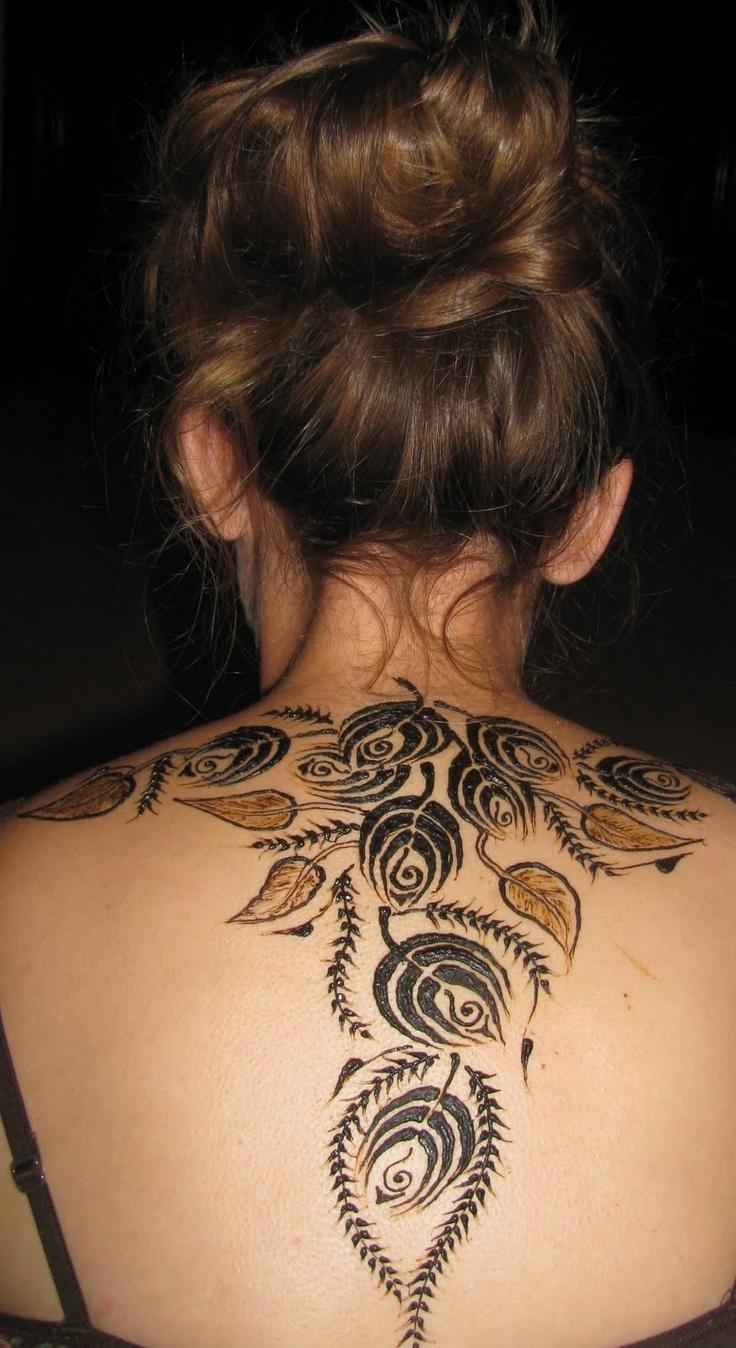 50 intricate henna tattoo designs art and design 50 - Henna Rose Back Piece 50 Intricate Henna Tattoo Designs