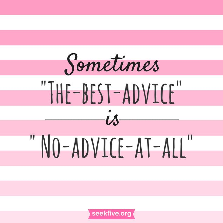 """Sometimes the best advice is no advice at all.  Check out the article, """"Judging and Giving Unsolicited Advice – I'm Guilty"""" by Binteazim.  #life #advice"""