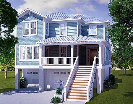 158 best beach house narrow lot plans images on Pinterest Modern