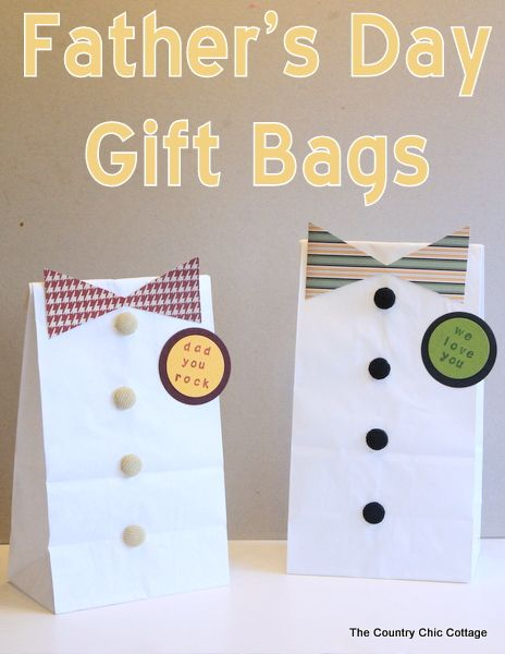 DIY Father's Day Gift Bags plus more dad and grad ideas for you!