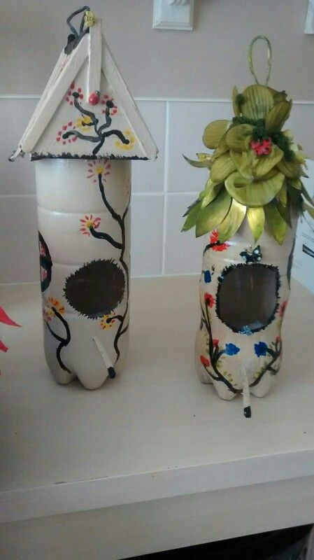 Great idea bird houses made from plastic bottles fairy for Plastic bottle bird house
