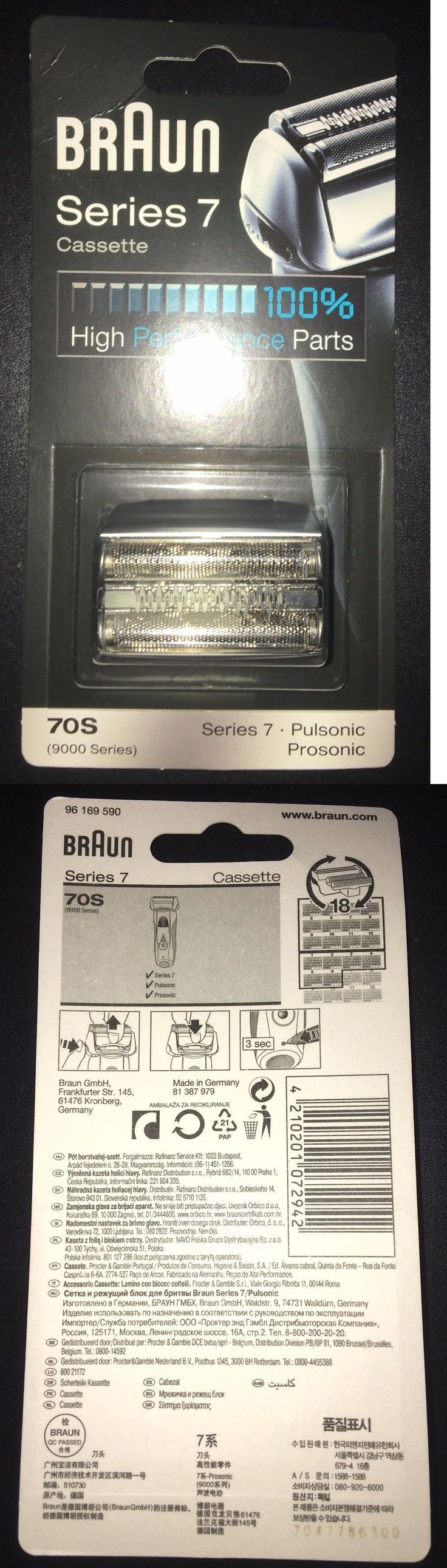Shaver Parts and Accessories: Braun Replacement Foil And Cutter Cassette - 70S, Series 7, Pulsonic - 9000 Series -> BUY IT NOW ONLY: $70.0 on eBay!