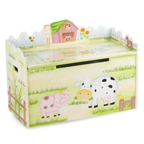 Guidecraft Farmhouse Toy Box by GuideCraft. $188.43. Age Range: 3 Years+. Adult assembly required. Little Farm House Toy Box Little Farmhouse Toy Box. The spacious interior has removable dividers to allow storage customization. Features safety hinges and cut-outs to prevent finger pinching. Durable casters for mobility. Assembly required. 32.5 x 25 x 15.5 - 42lbs.