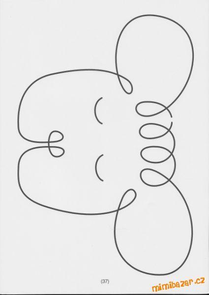 "ovečka -viac obrázkov nástenka https://sk.pinterest.com/tzigalicious/drawing-tekenen-pinta/  Uvolňovací grafomotorické cviky ""Jedním tahem"""
