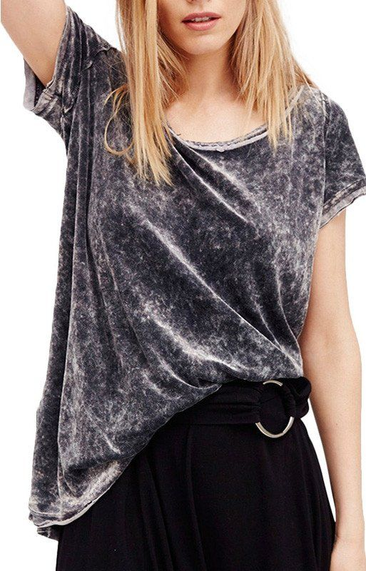 Specifications: Item Type:Tops Tops Type:Tees Gender:Women Pattern Type:Solid Collar:O-Neck Fabric Type:Velvet Style:Casual Material:Nylon,Spandex,Polyester Decoration:None Sleeve Length:Short Clothin