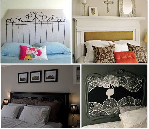 diy headboards i 39 m going to try to make one out of a door i just bought home ideas. Black Bedroom Furniture Sets. Home Design Ideas
