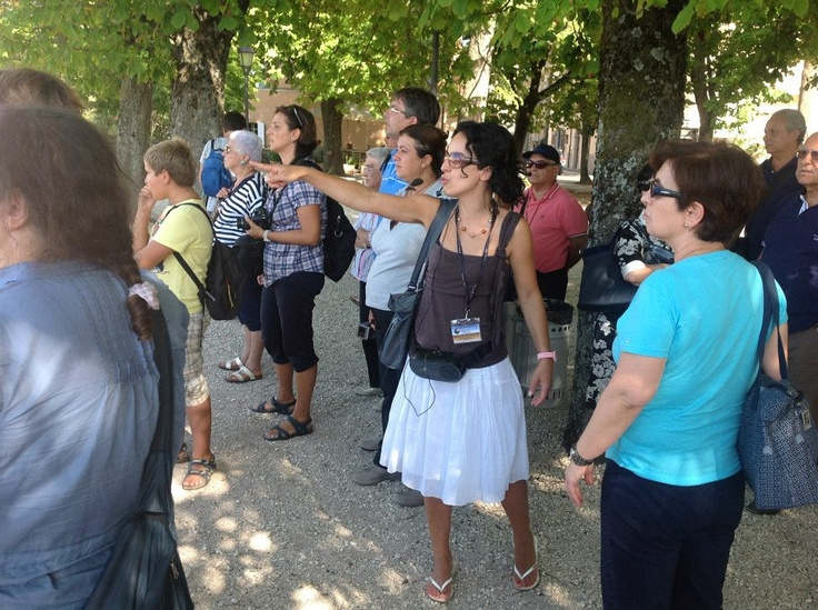 August 2012 in #Todi with a group from #Trani