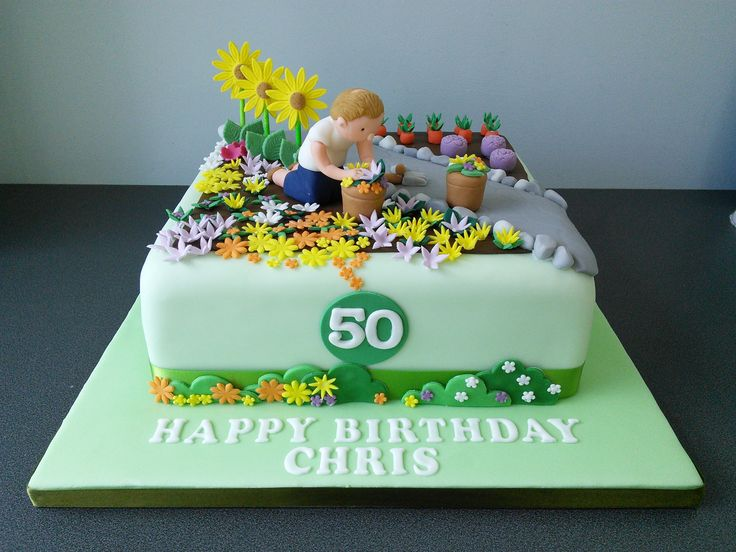 Gardening cake cakes pinterest for Gardening 80th birthday cake